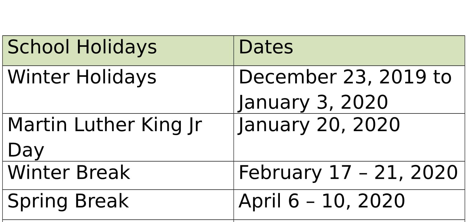 Cobb School Calendar