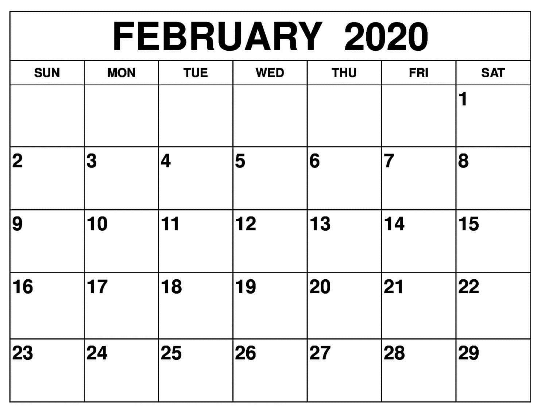 Free Blank Calendar