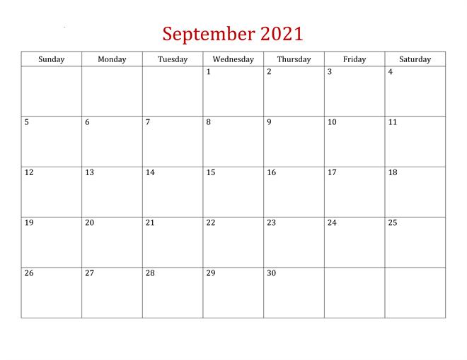 2021 Calendar September Malayalam