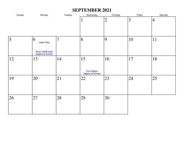 2021 Calendar September Marathi