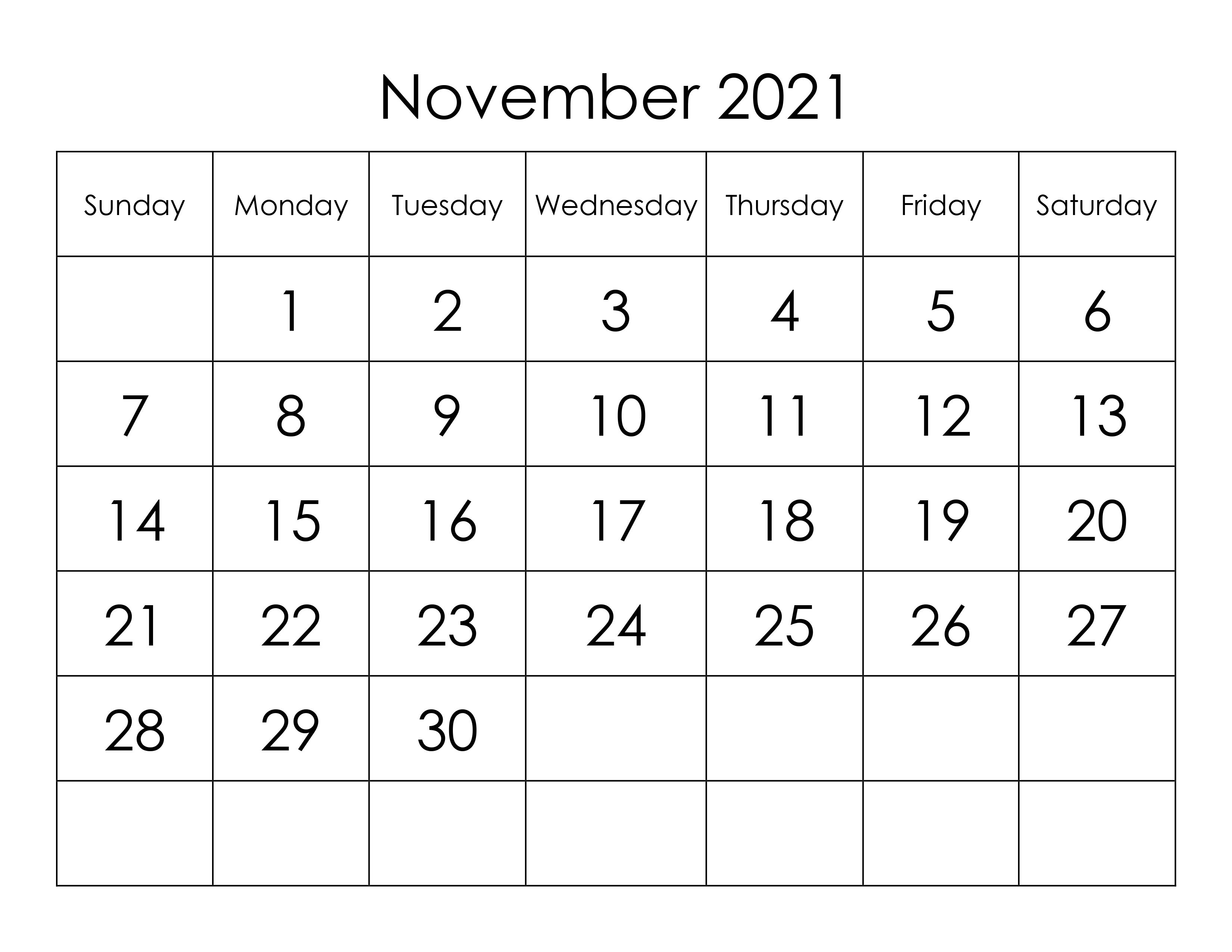 2021 November Calendar Tamil