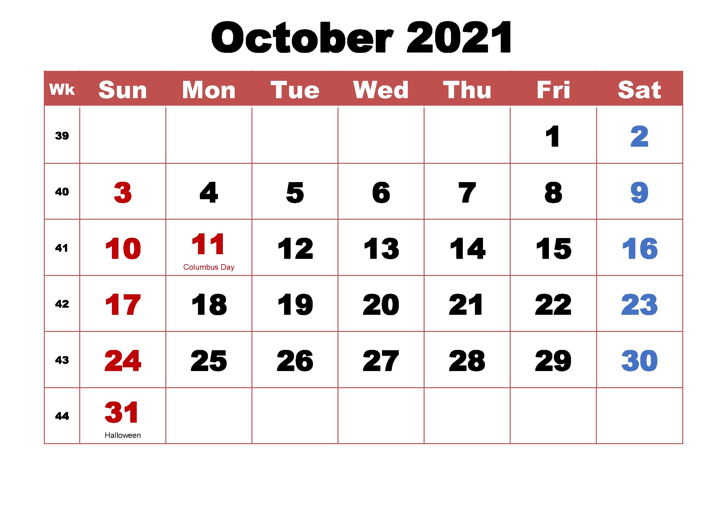 2021 October Calendar Marathi