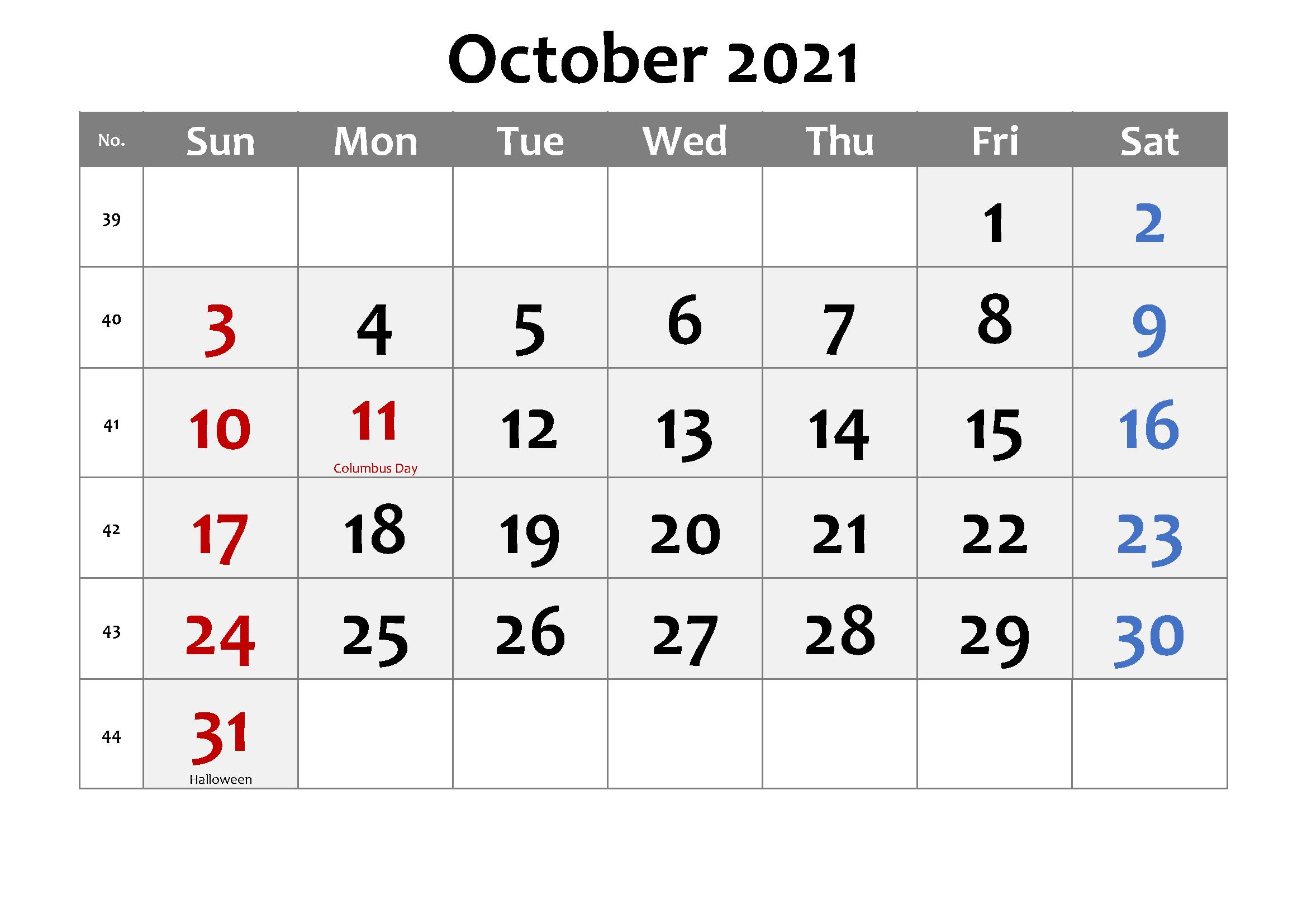 2021 October Calendar Telugu
