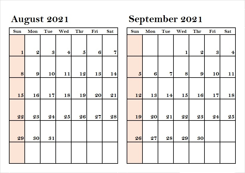 2021 September Calendar Printable