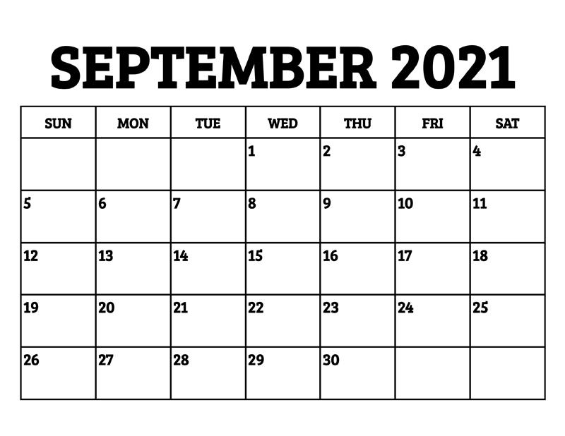 2021 September Calendar With Holidays