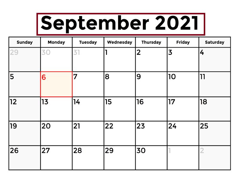 2021 September Calendar With Jewish Holidays