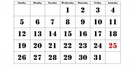 December 2021 Calendar Printable Monthly
