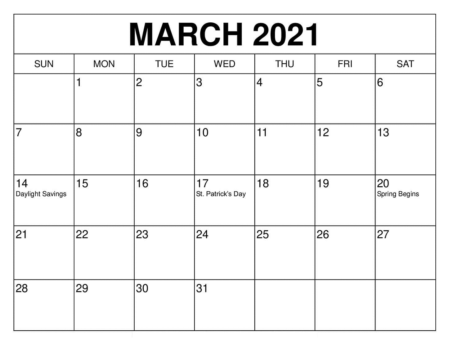December 2021 Calendar Printable Uk Undated