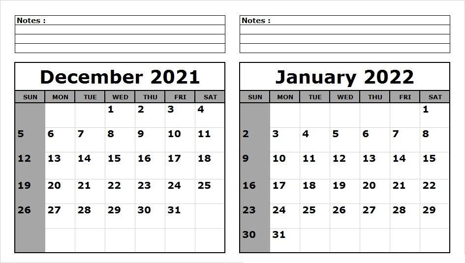 December 2021 Printable Calendar Wiki