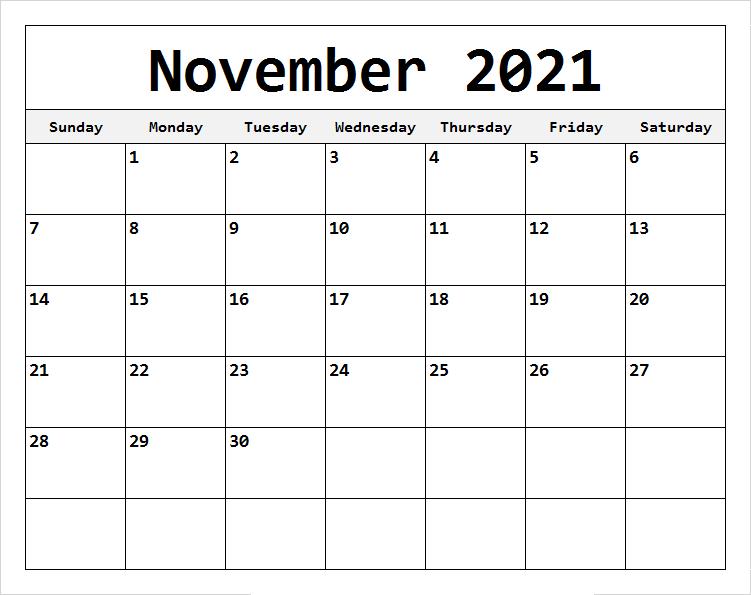 November 2021 Calendar With Holidays UK