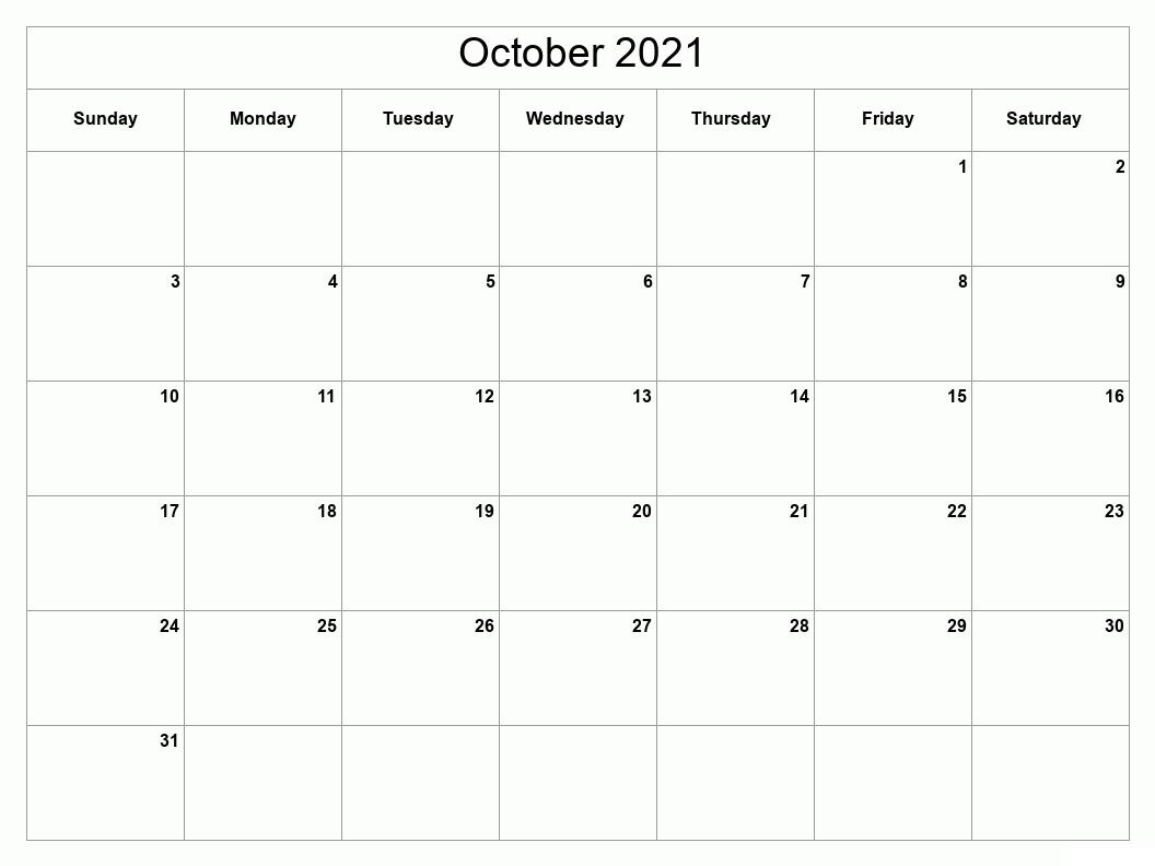 October 2021 Calendar Karnirnay