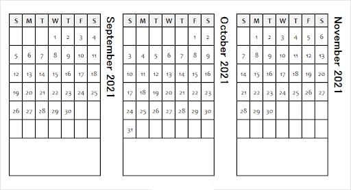 October 2021 Calendar Template Excel Editable Free