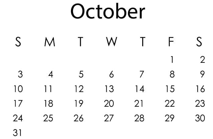 October 2021 Islamic Calendar