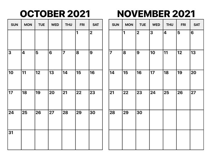 October Calendar 2021 Tamil