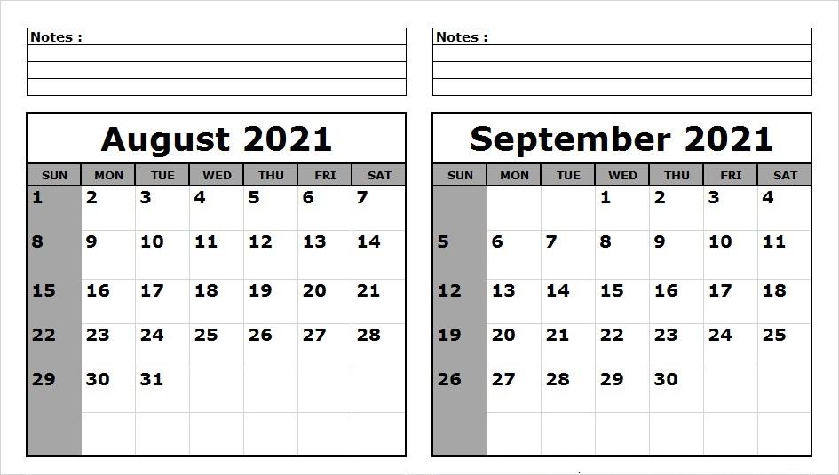 September 2021 Calendar Printable Customizable
