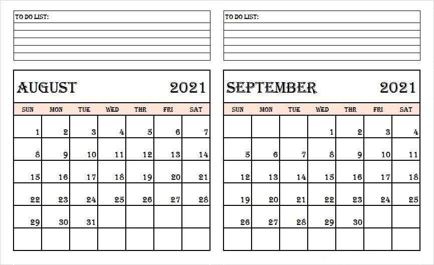 September 2021 Calendar Printable Wiki