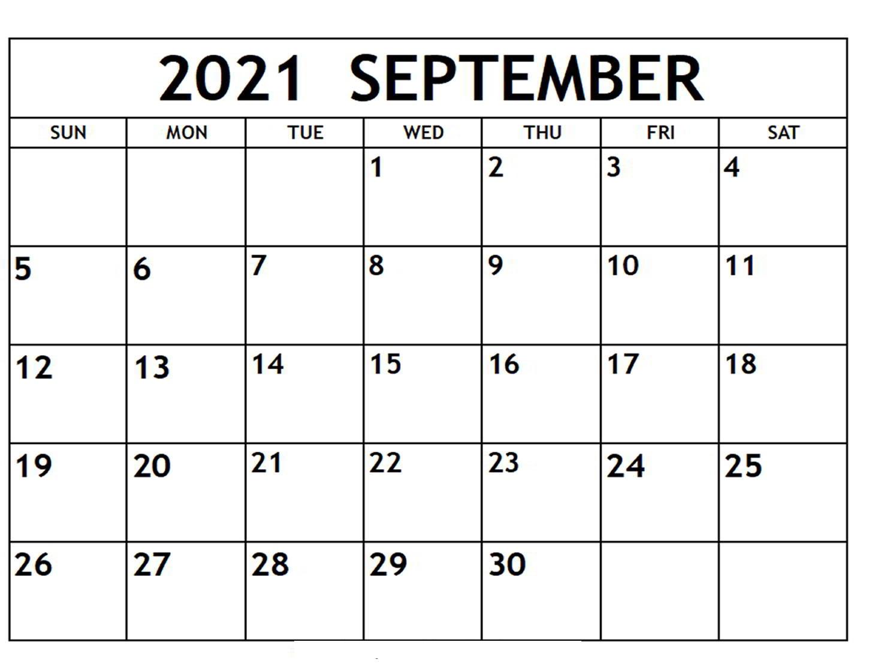 September 2021 Calendar in Hindi