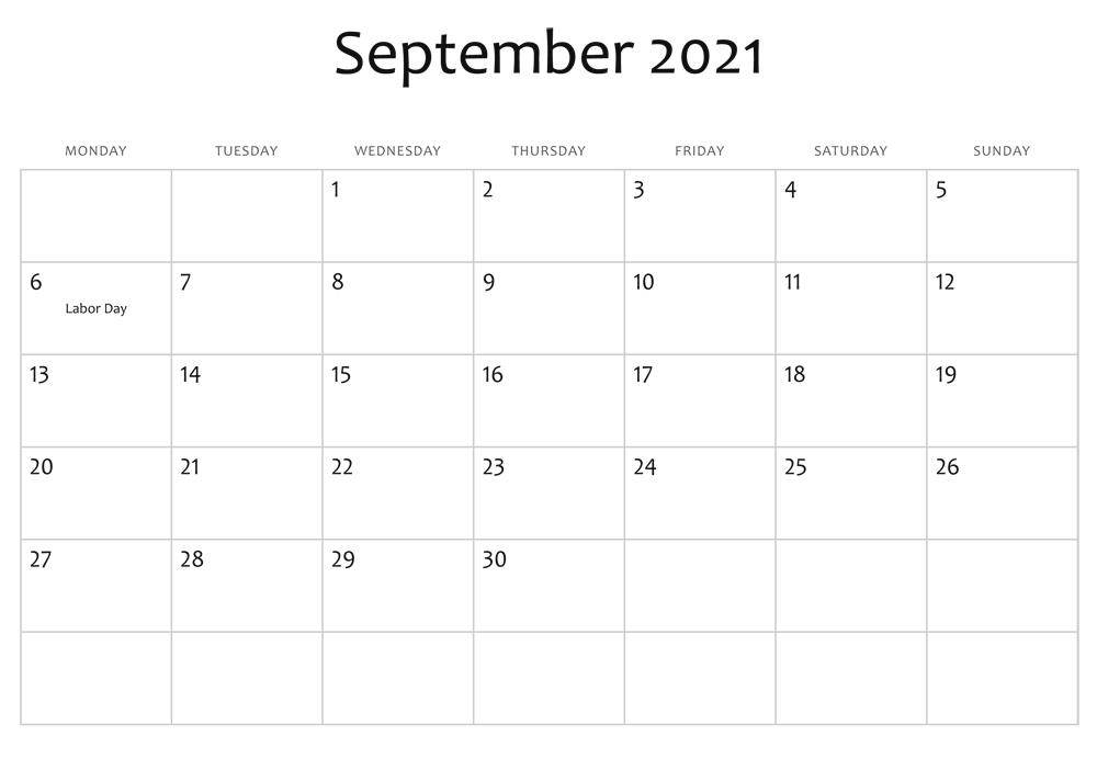 September 2021 Islamic Calendar