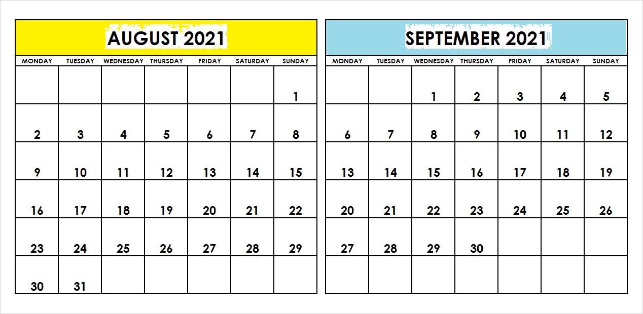 September 2021 Printable Calendar Keto