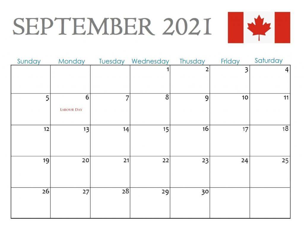 September 2021 Printable Calendar Large Boxes
