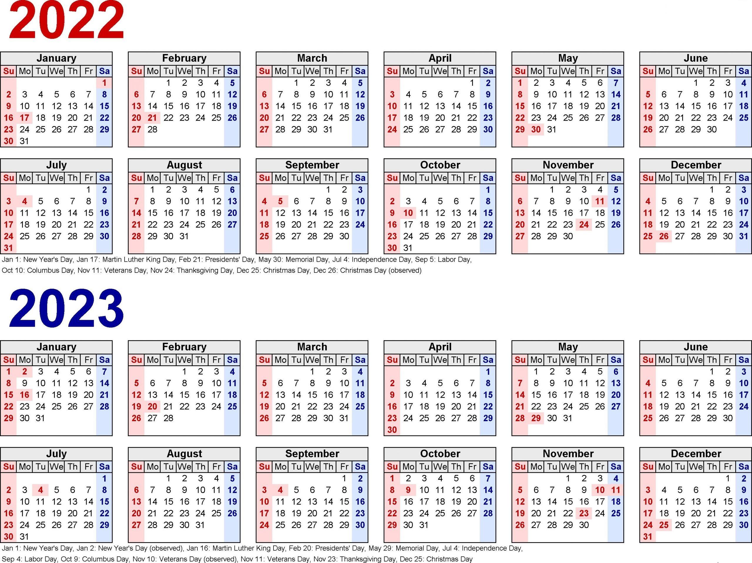 2022 Biweekly Payroll Calendar Template