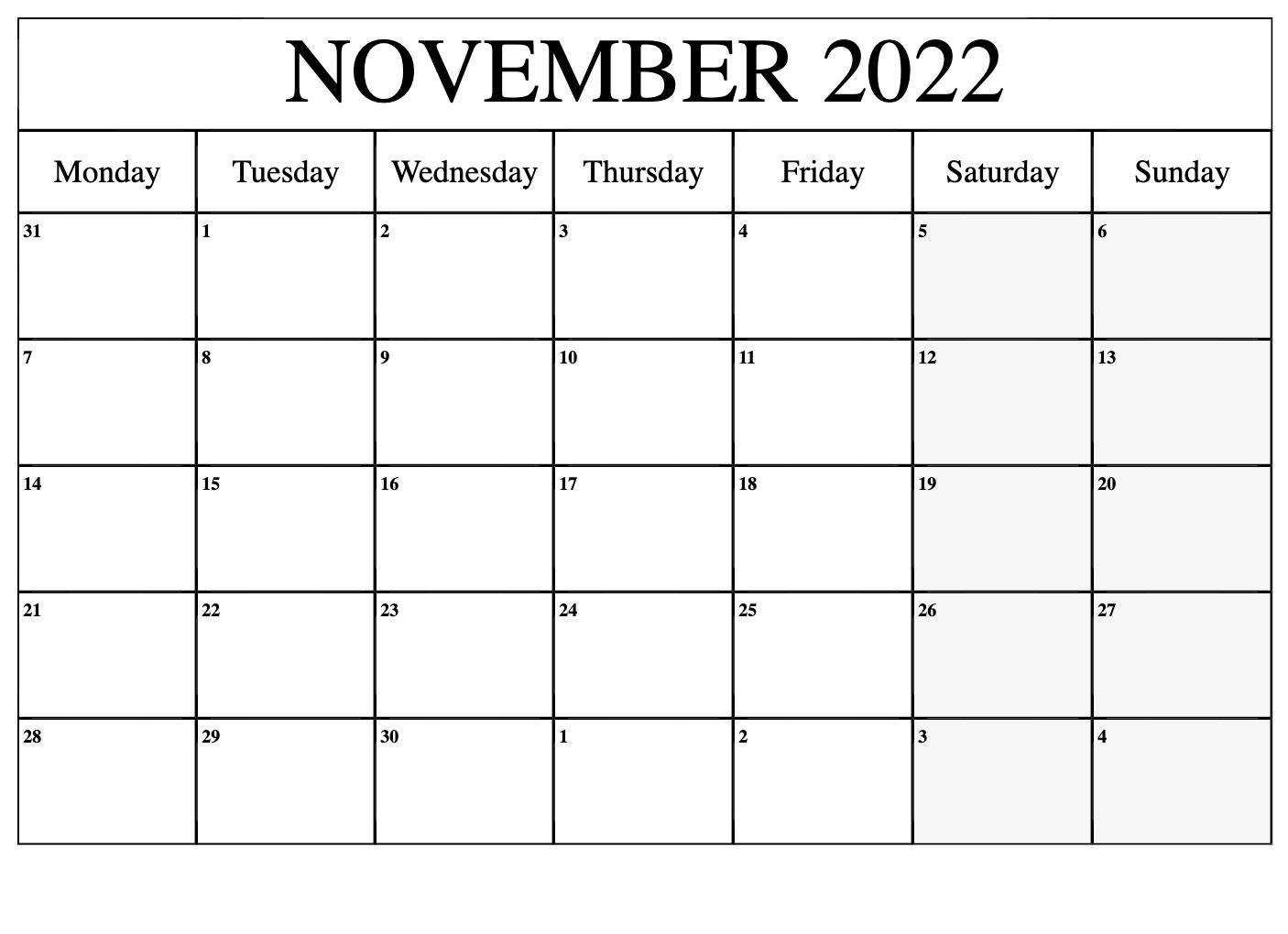2022 Calendar Template Google Sheet