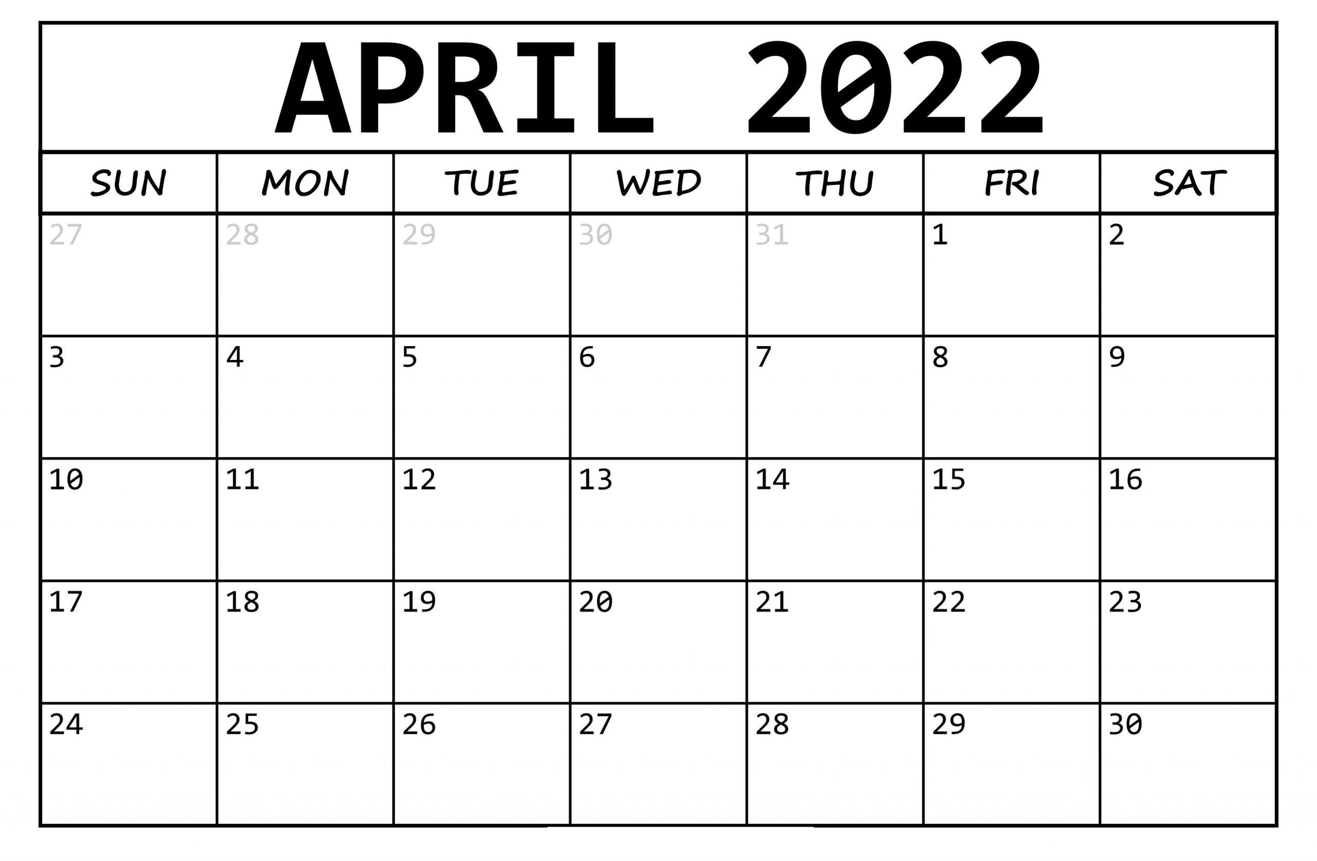 2022 Calendar Template Indesign