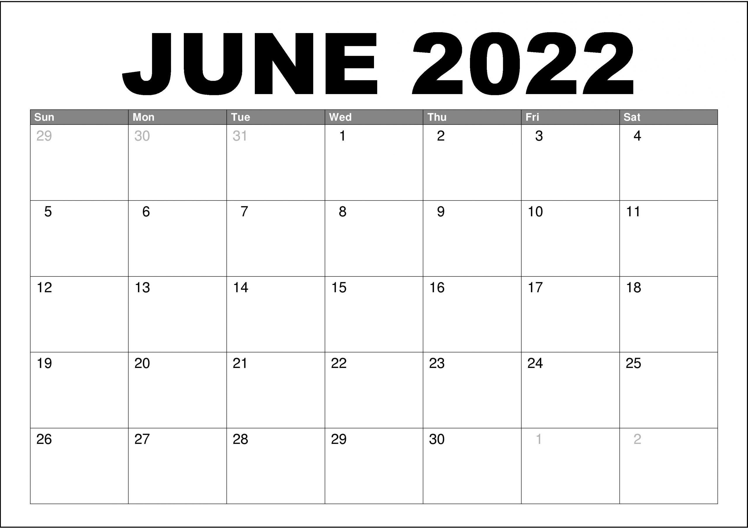 2022 Calendar Template PDF