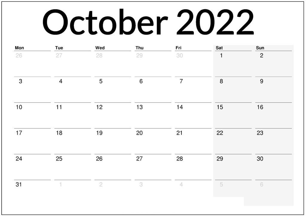 2022 Calendar Template word