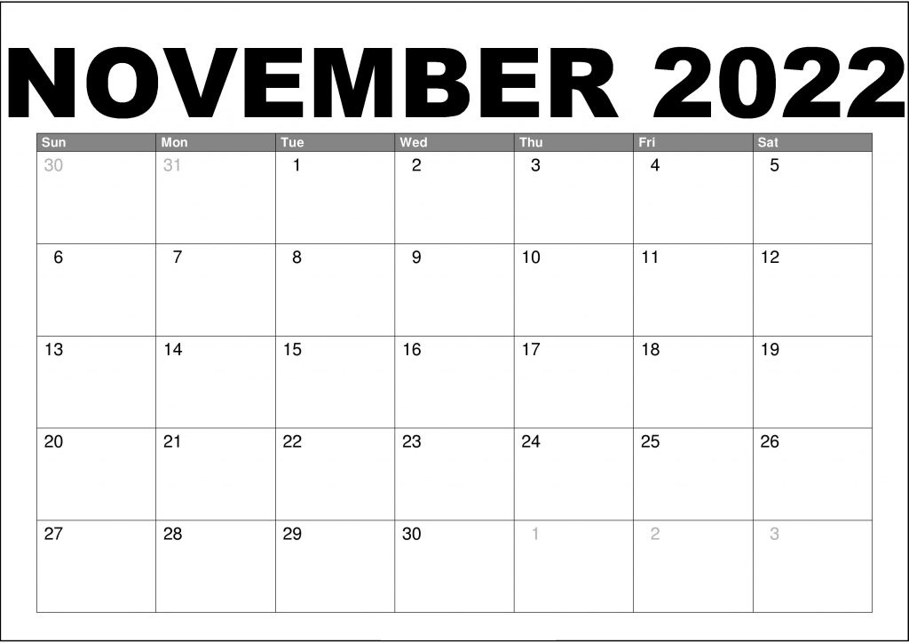 2022 Free Printable Calendar One Page