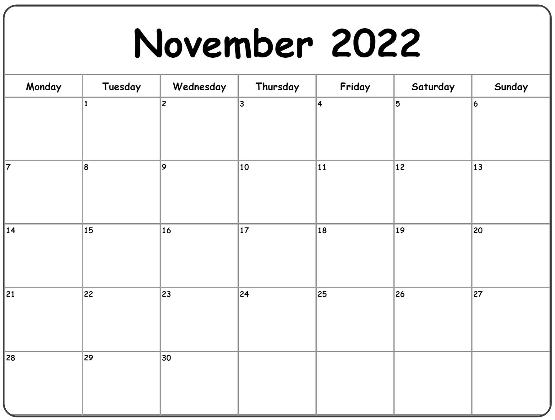 2022 Monthly Calendar Google Sheets
