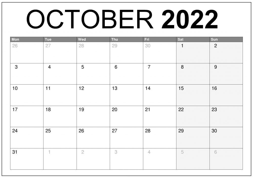 2022 Printable Calendar One Page portrait