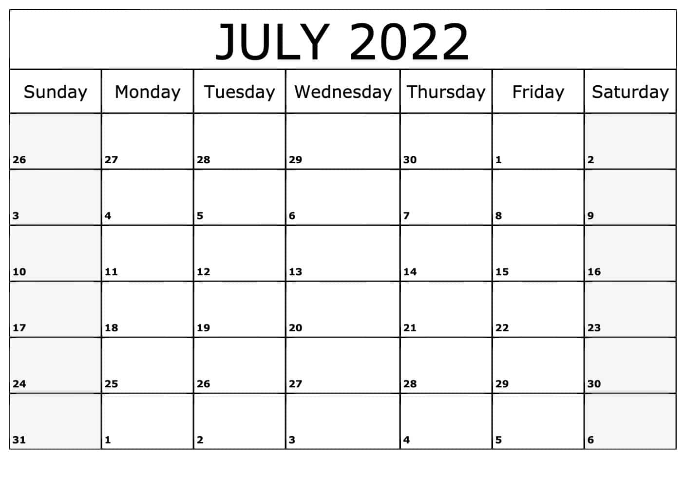 2022 calendar excel template