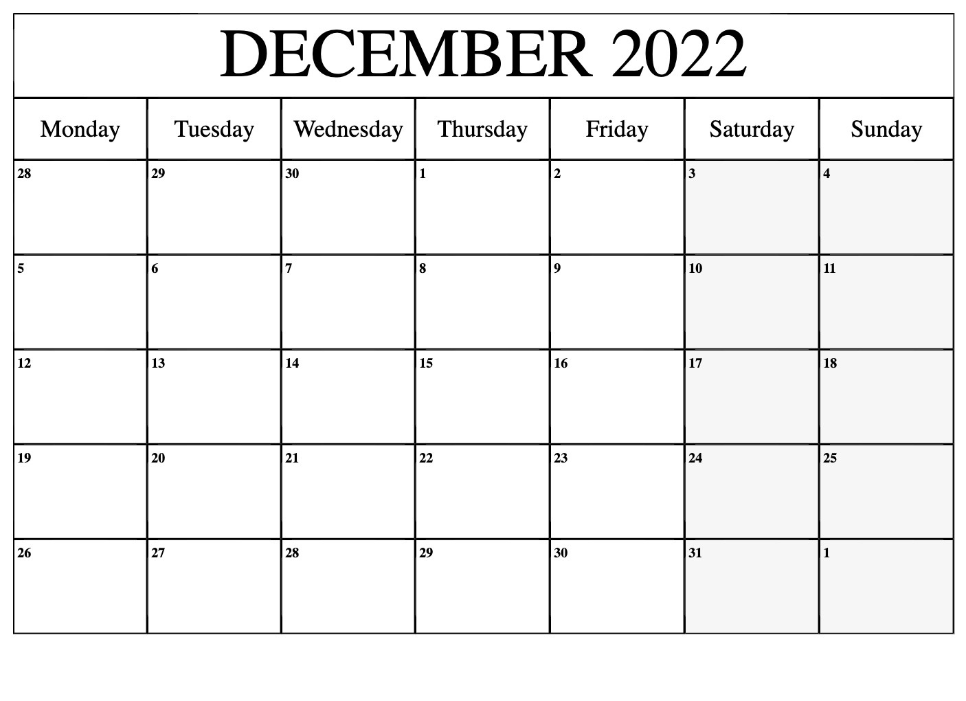 2022 year calendar excel