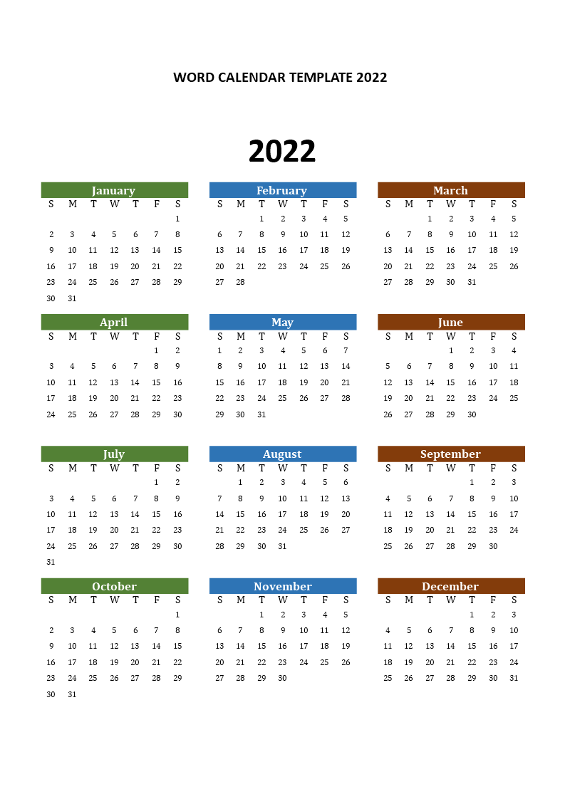 Free Printable 2022 Calendar with Canadian Holidays