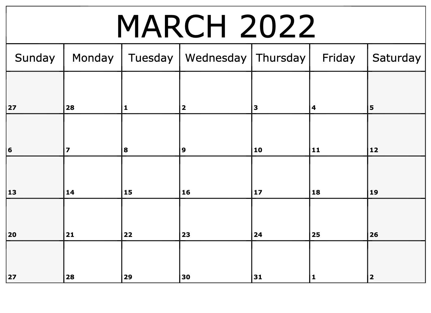 Printable 2022 Calendar Australia