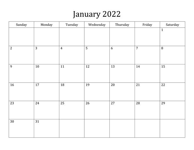 Printable 2022 Calendar Canada