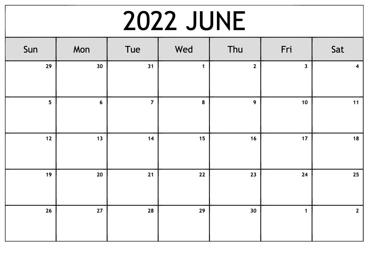Printable 2022 Calendar UK