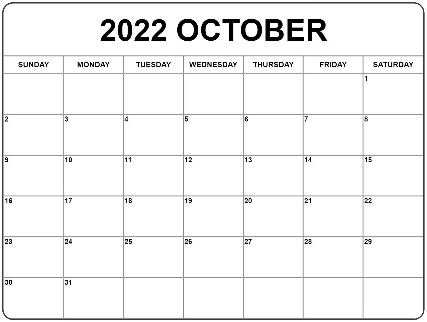 Printable 2022 Calendar with Week Number